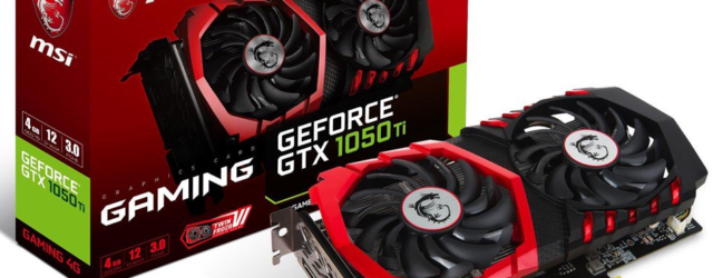 Видеокарта для майнинга MSI GeForce GTX1050 Ti GAMING 4G 4.0 GB OC Mid Range